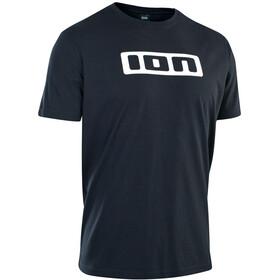 ION Maglietta con logo Uomo, nero/bianco
